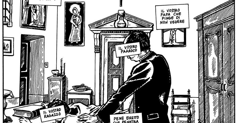 #Vetrioloechina: Vignetta censurata nel rispetto degli standard della comunità