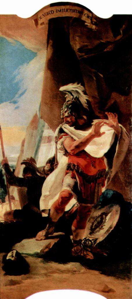 Annibale Barca ritrova a testa del fratello - Pala del Tiepolo