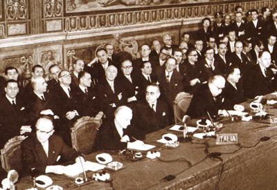 La firma dei Trattati di Roma, 25 marzo 1957
