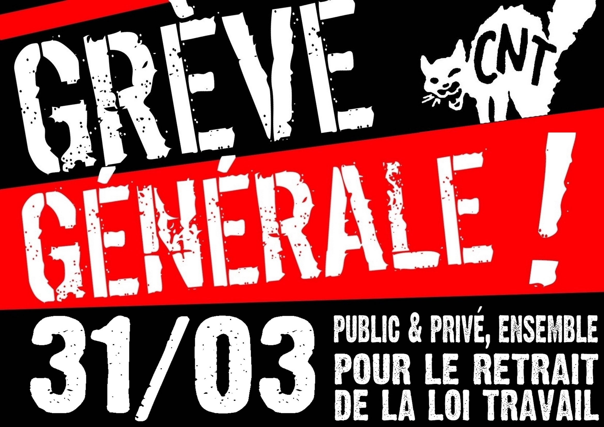 L'avviso di uno dei molti scioperi avvenuti in Francia