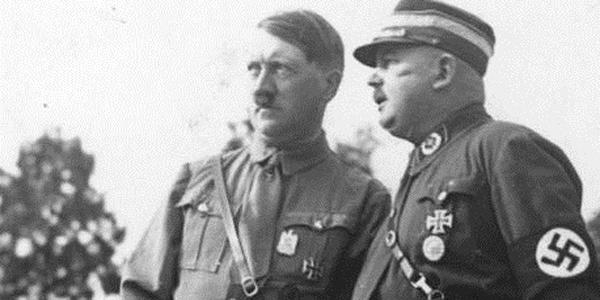 Hitler con il capo delle SA, Rohm