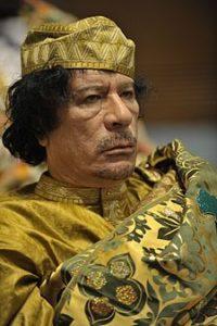 Il dittatore Mu'ammar Gheddafi