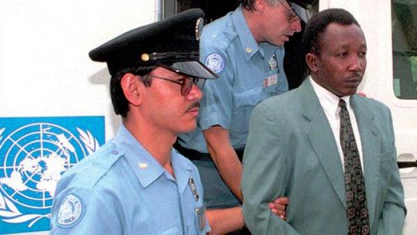 Jean-Paul Akayesu il giorno dell'inizio del processo