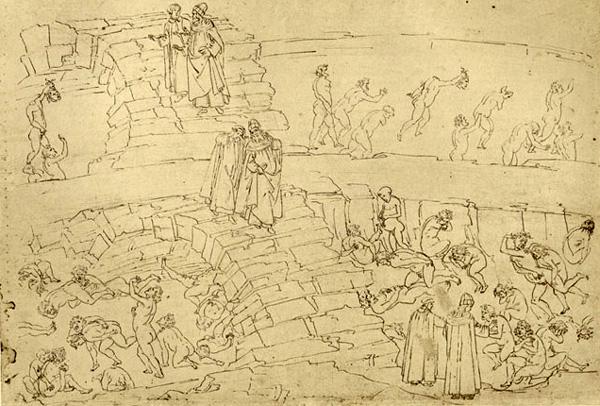 Una delle illustrazioni di Botticelli