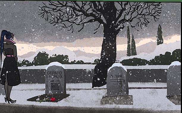 Widowmaker in visita alla tomba del marito