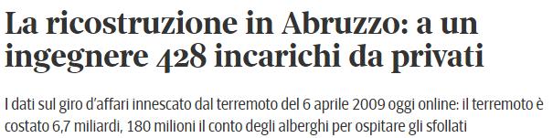 Clicca sul titolo per leggere l'articolo di Sergio Rizzo sul Corriere della Sera