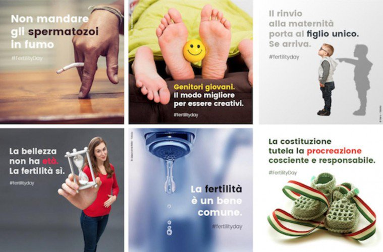 "La campagna ""errore"" per il Fertility Day"