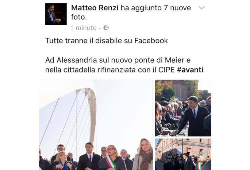 """La didascalia """"politically incorrect"""" di Renzi"""