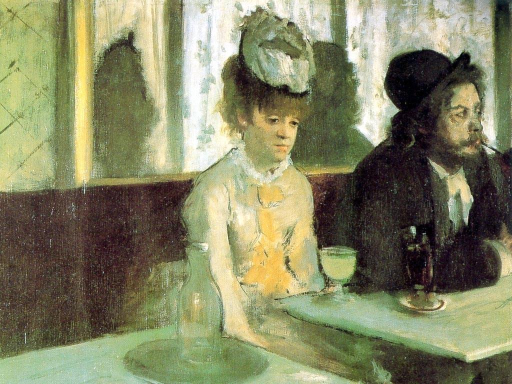 """""""L'assenzio."""" Edgar Degas"""
