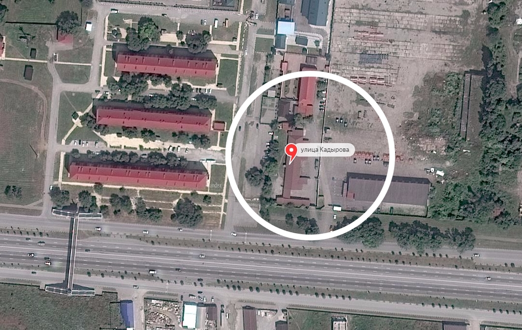 La posizione del campo di Argun, in Cecenia.