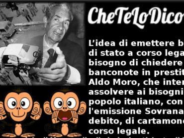 Usare Aldo Moro e il signoraggio per attaccare l'euro