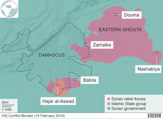 Eastern Ghouta e Aleppo, La Guerra Civile Siriana